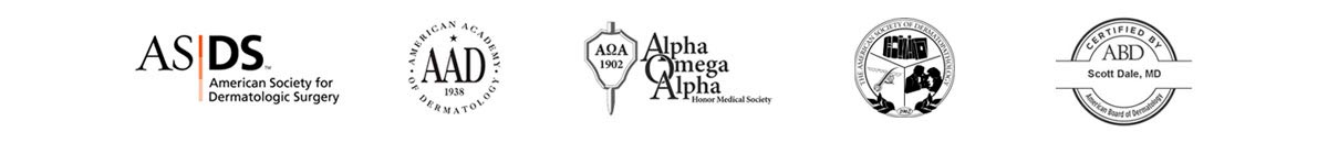 Associations: American Society for Dermatologic Surgery, American Academy of Dermatology, Alpha Omega Alpha, AMA, ABD